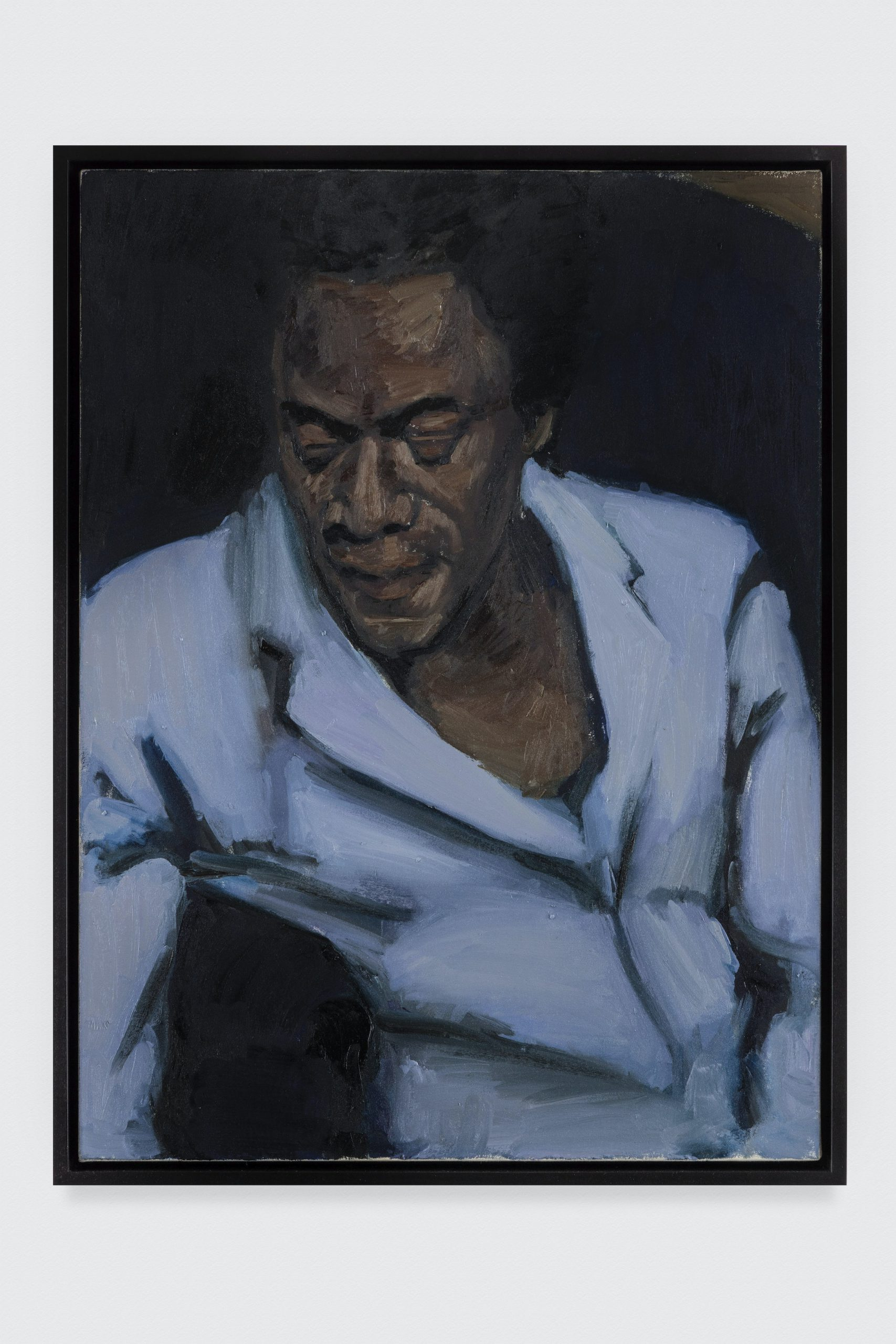 Lynette Yiadom-Boakye. Carpal Tunneller, 2013. Oil on canvas. 31 1/2 x 23 5/8 in. © Lynette Yiadom-Boakye. Courtesy of the artist, Jack Shainman Gallery, New York and Corvi-Mora, London. The Eileen Harris Norton Collection. Photo: Charles White.