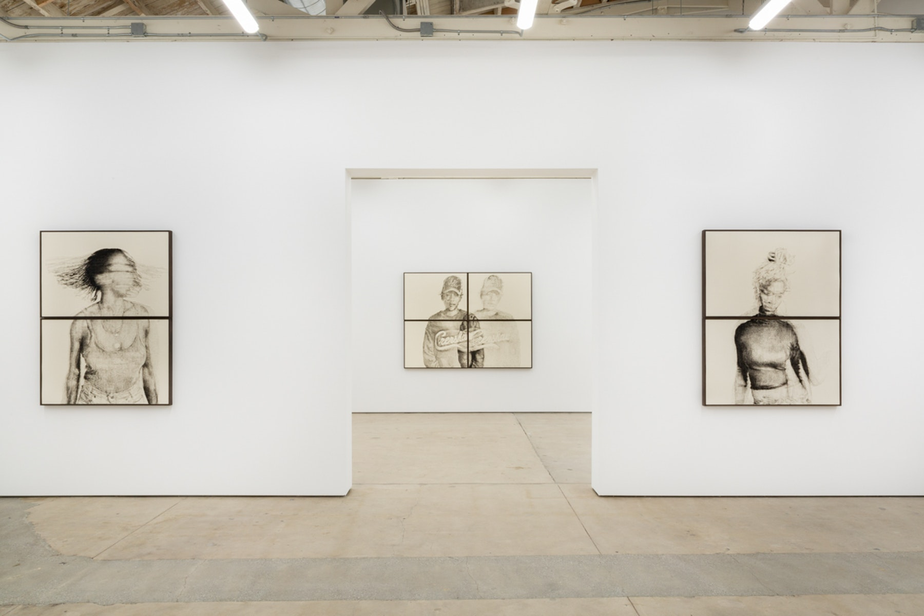 Installation view of Blur in the Interest of Precision by Kenturah Davis at Matthew Brown, Los Angeles. 26 January - 2 March 2019. Courtesy of the Artist and Matthew Brown, Los Angeles.