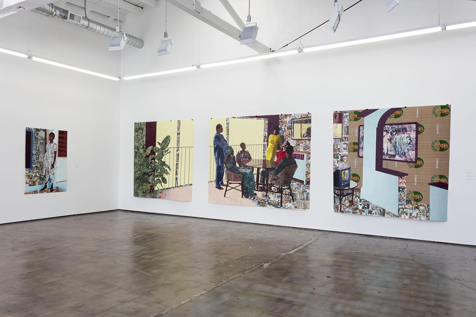 Njideka Akunyili Crosby: The Beautyful Ones and Two Films by Akosua Adoma Owusu at Art + Practice, Los Angeles. September 12 - November 21, 2015. Photo: Joshua White/JWPictures.com.