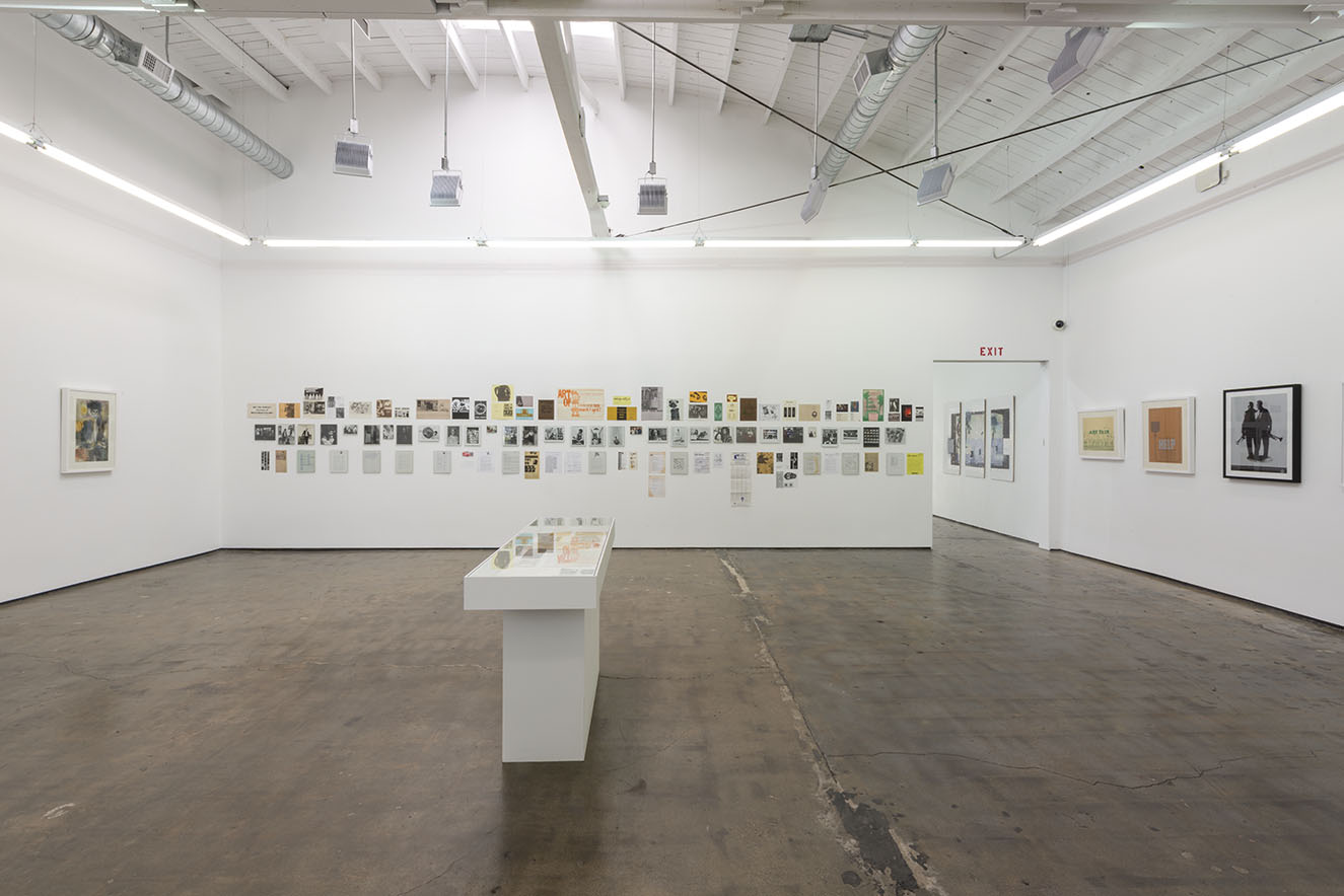 Installation view of Artists-in-Residence: Aalia Brown, Dale Brockman Davis, Sandy Rodriguez,. Art + Practice, Los Angeles. July 11- August 29, 2015. Photo: Joshua White/JWPictures.com.