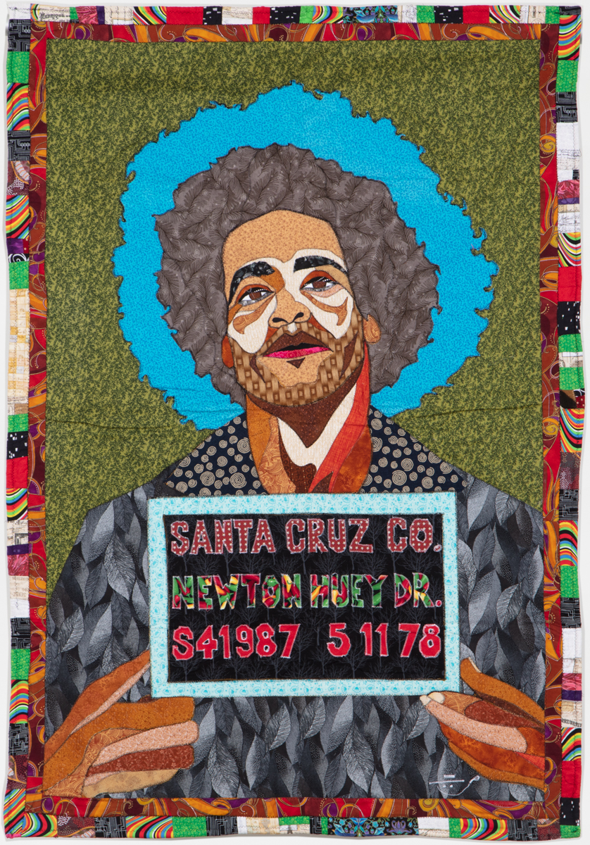 Ramsess, Dr. Huey P. Newton, 2008. Fabric. 42 x 62 inches. Photo by Damian Turner. Courtesy of the artist.