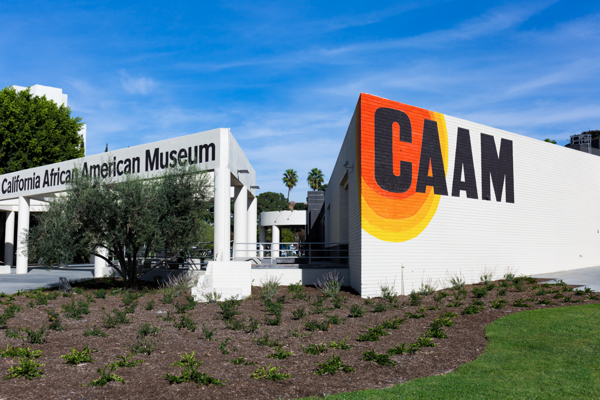 The California African American Museum (CAAM) in Exposition Park, Los Angeles. 21 November 2017. Photo by HRDWRKER. Courtesy of the California African American Museum.