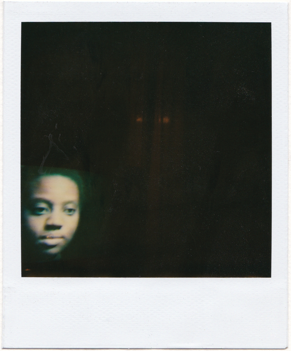 Cauleen Smith, Still from Chronicles of a Lying Spirit by Kelly Gabron, (1990). Polaroid. Digital scan.