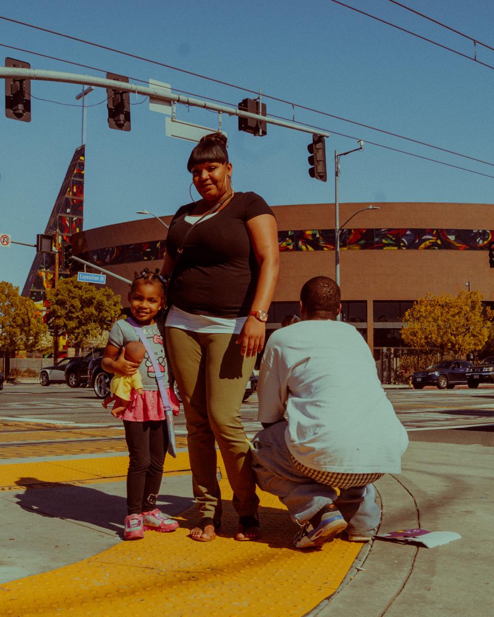 Kya Lou, Family Portrait on Crenshaw Blvd., 2016. Courtesy of the artist.