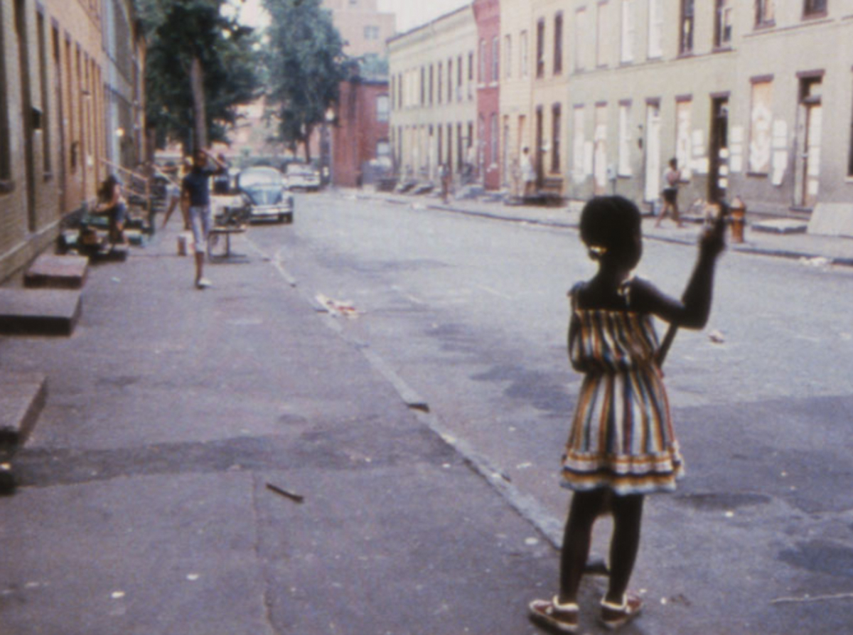 Still from Brick by Brick (1982) by Shirikiana Aina. Image courtesy of the artist, the UCLA Film and Television Archive, and Mypheduh Films.