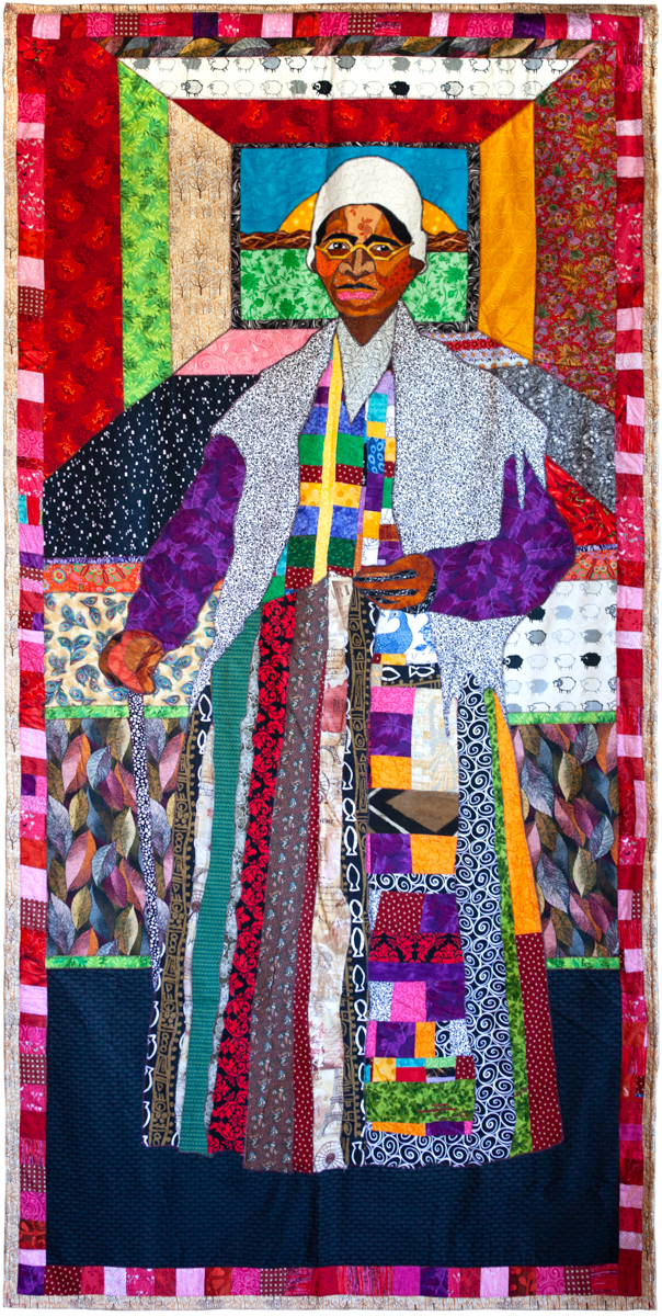 Ramsess, Sojourner Truth., 2006. Fabric. 104 x 51 inches. Photo by Natalie Hon. Courtesy of the artist.
