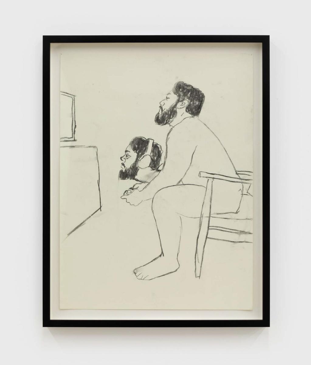 Luis Flores, Sin título, 2019. Grafito sobre papel. 17,5 x 23,5 pulgadas. Cortesía del artista.
