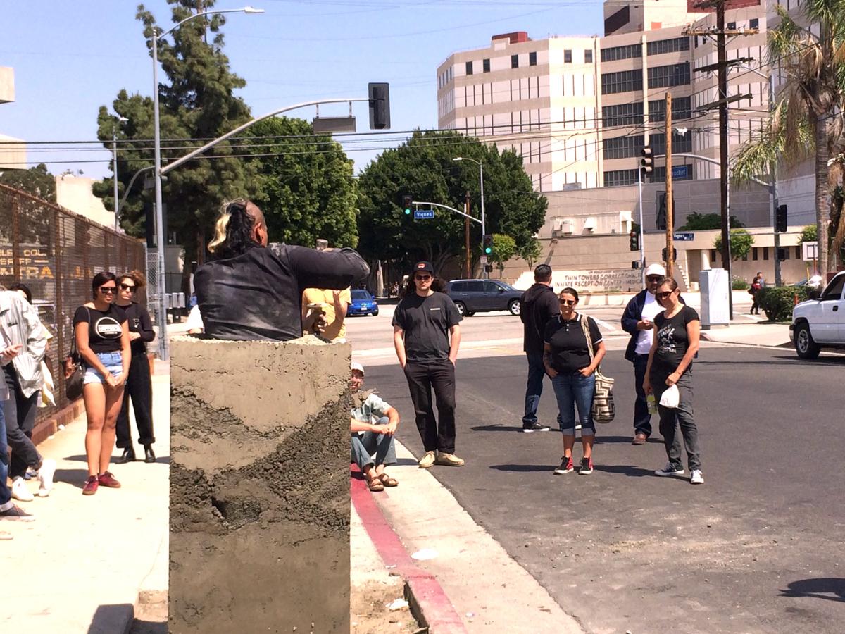 Rafa Esparza, Bust: a meditation on freedom. 11 April 2015. Los Angeles, California. Photo by Nancy Popp.