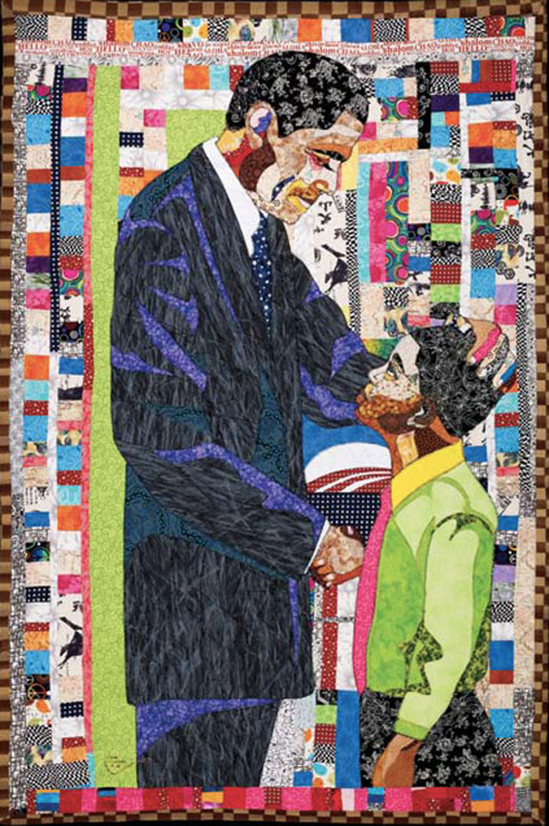Ramsess, President Barack Obama and Me. Fabric. 60 x 96 inches.