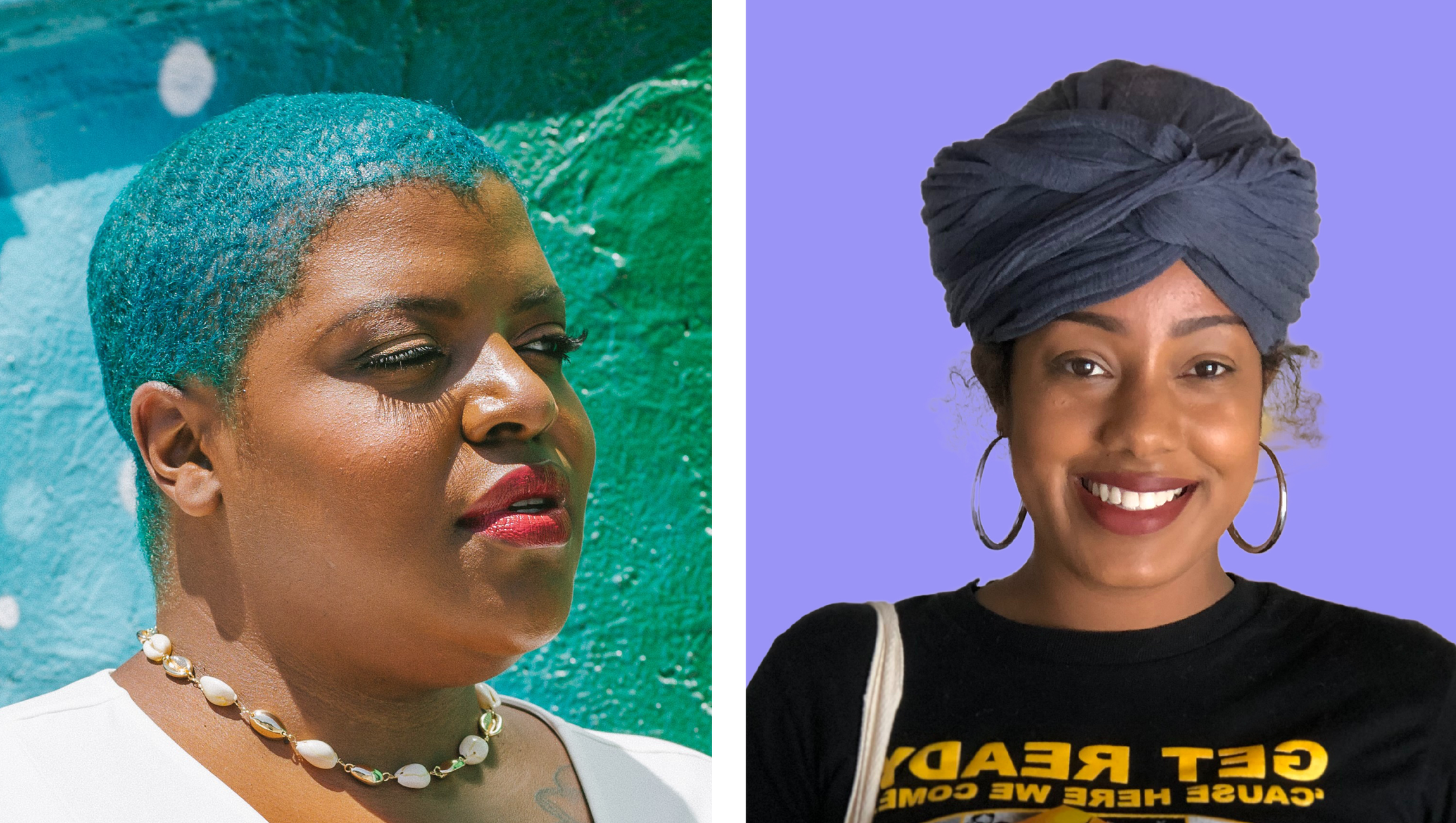 LEFT TO RIGHT: bridgette bianca. Photo by: Kaye McCoy. Asha Grant. Photo by: Celia Ward-Wallace of South LA Cafe.