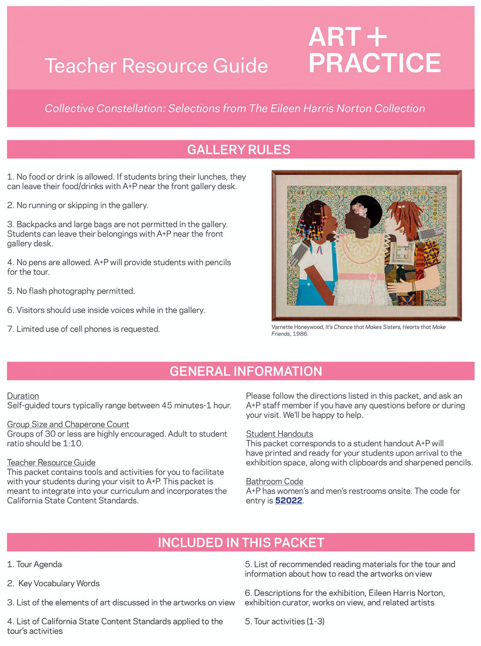 Una vista previa de una parte de la Guía de recursos para maestros de A + P para K-2.