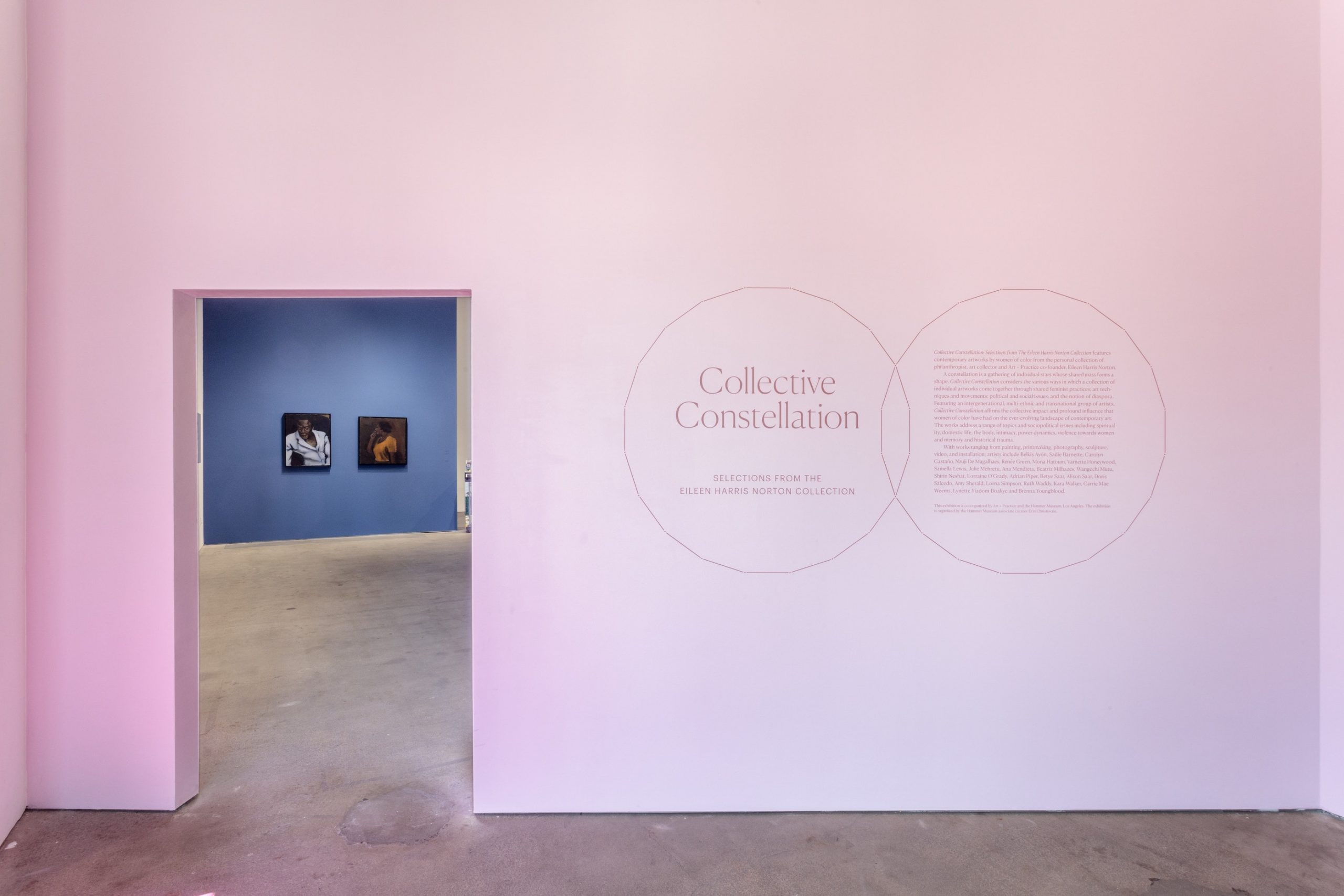 Installation view of Collective Constellation: Selections from The Eileen Harris Norton Collection at Art + Practice. 08 February 2020 - 02 January 2021. Photography: Charles White.