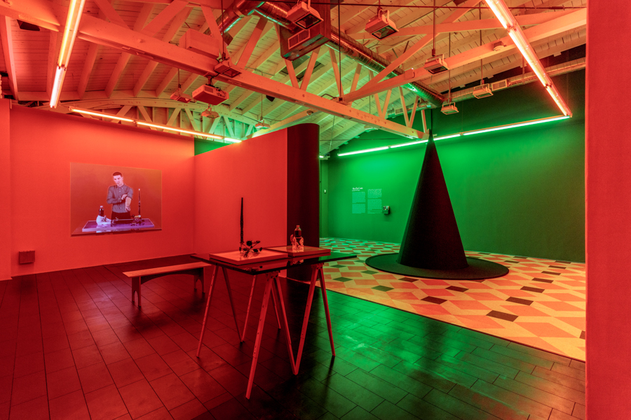 Alex Da Corte: A Season in He'll, installation view.  Art + Practice, Los Angeles.  July 9-September 17, 2016. Photo by Joshua White.