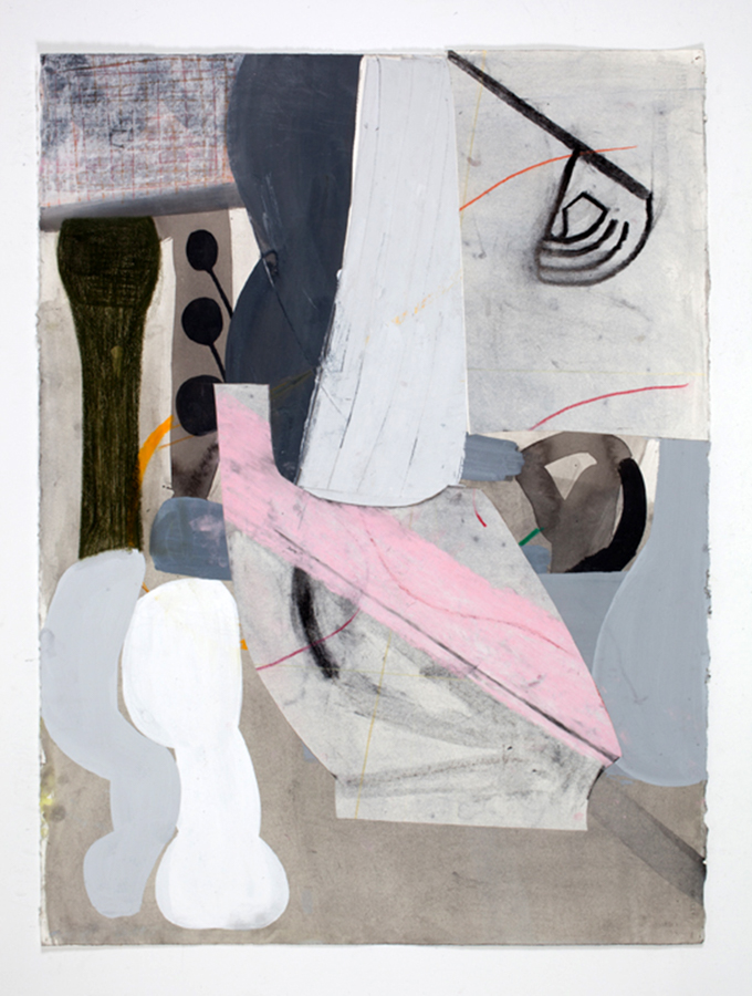 Amy Sillman, A Shape that Stands Up and Listens #31, 2012. Ink and chalk on paper, 30 × 22 1/2 inches. Courtesy of the artist and Sikkema Jenkins & Co., New York