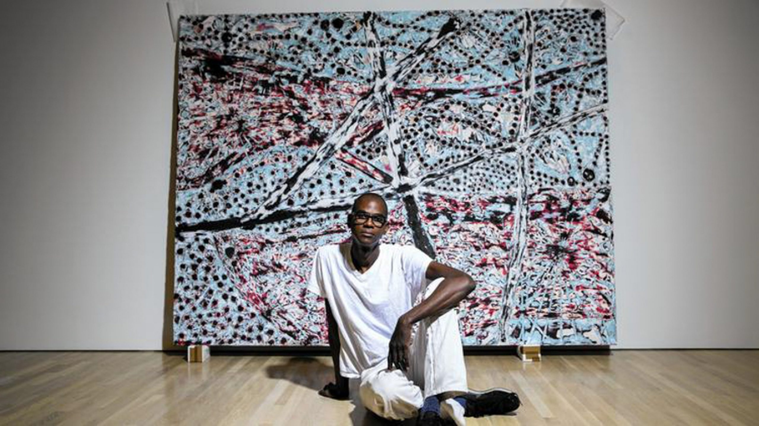 L.A. artist Mark Bradford in front of The Next Hot Line in June 2015. He will represent the U.S. at the Venice Biennale. Photo: Jay L. Clendenin/Los Angeles Times.