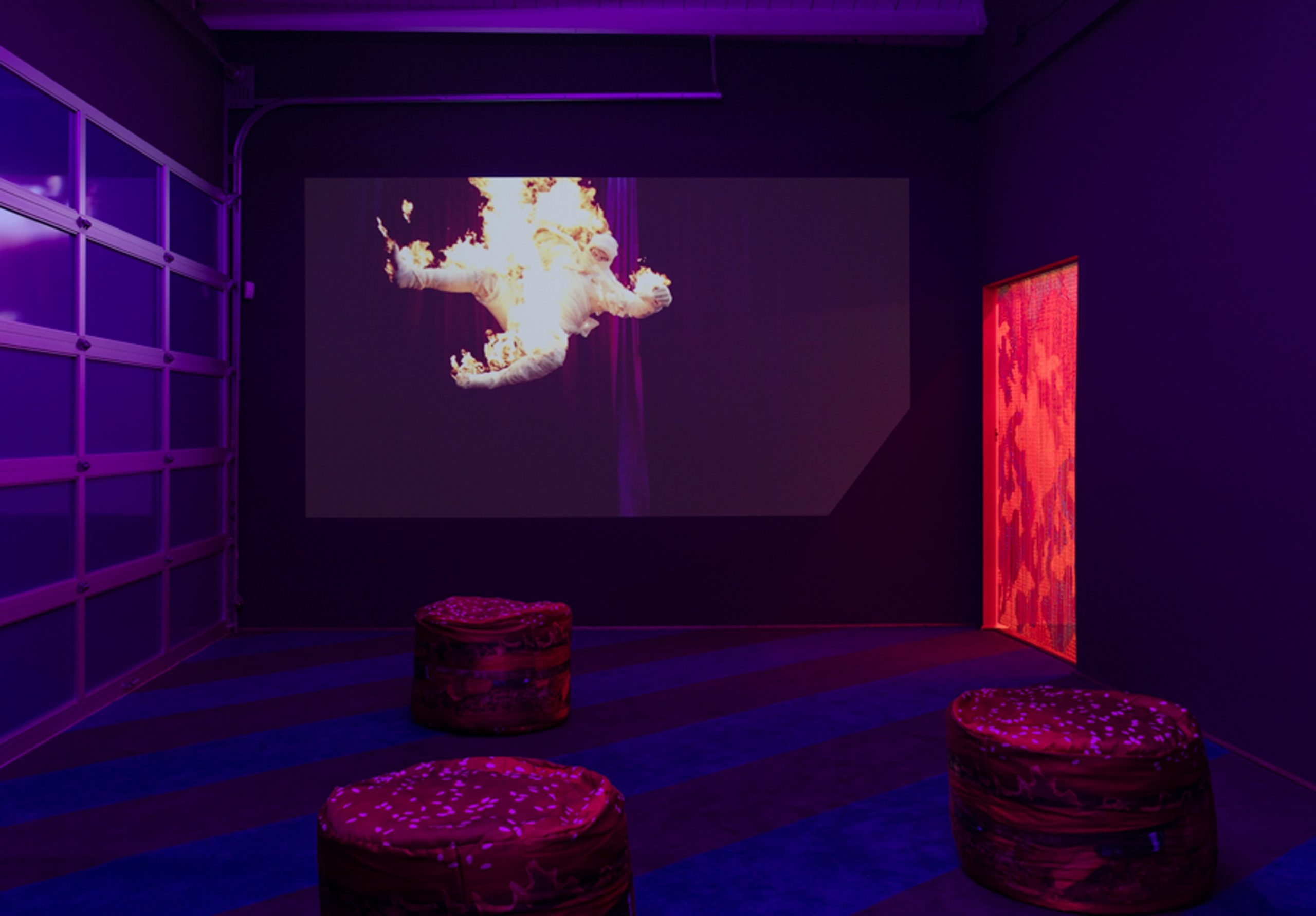 Alex Da Corte: A Season in He'll', installation view. Art + Practice, Los Angeles. July 9-September 17, 2016. Photo by Brian Forrest/Hammer Museum.
