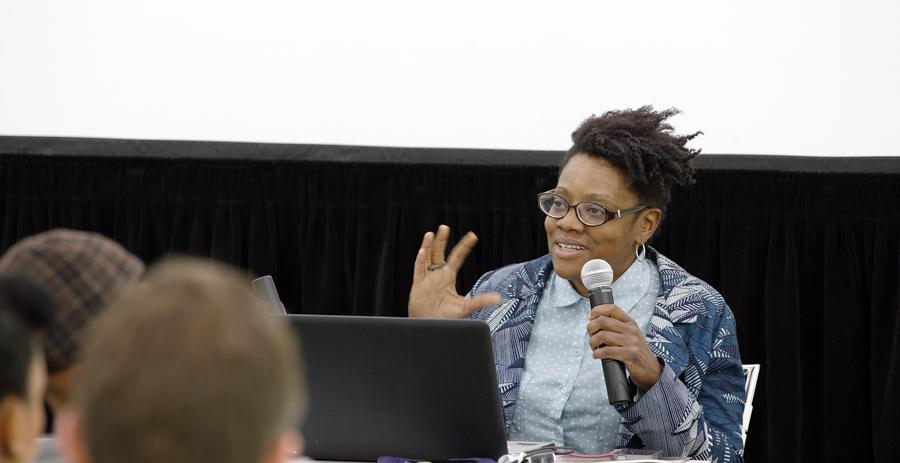 Artist Talk: Cauleen Smith at Art + Practice. Los Angeles. March 11, 2015. Photo by Sean Shim-Boyle.