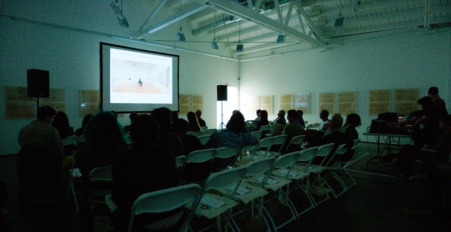 Artist Talk: Jennie C. Jones at Art + Practice. Los Angeles. May 28, 2015. Photo by Elon Schoenholz.