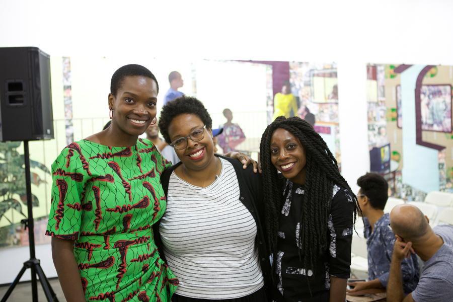 En conversación: Njideka Akunyili Crosby y Akosua Adoma Owusu Moderado por Jamillah James en Art + Practice, Los Ángeles. 24 de septiembre de 2015. Foto de Elon Schoenholz.